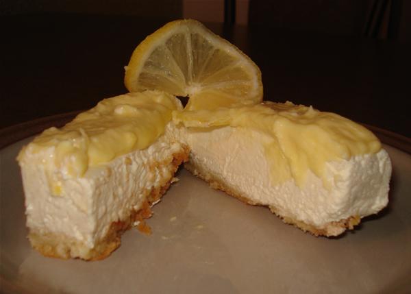Glutenfri kremet sitronostekake uten tilsatt sukker