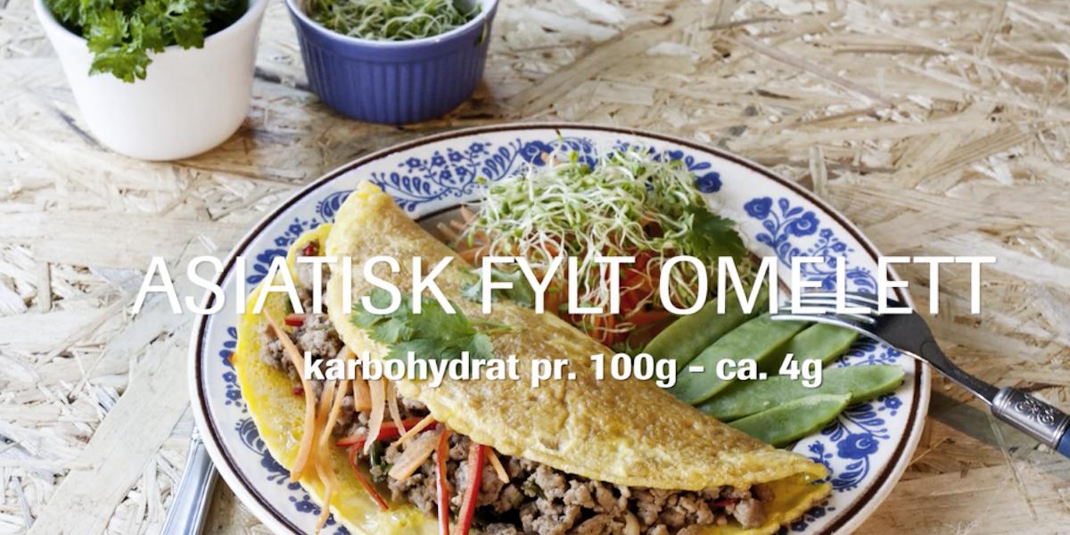 Asiatisk fylt omelett – med video!