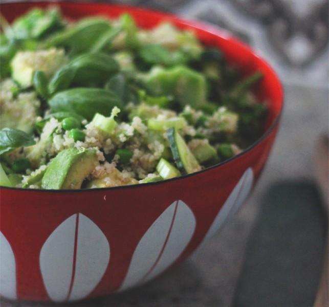 Frisk og grønn salat på 1-2-3