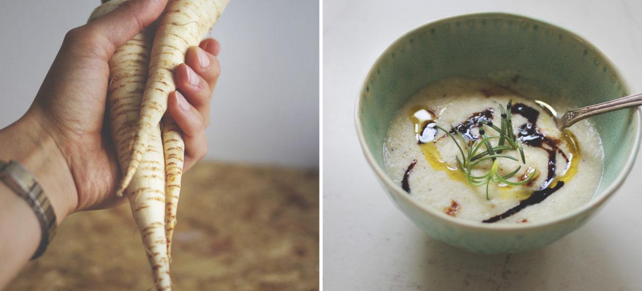Persillerotsuppe med blomkål & quinoa
