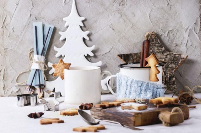 sprø peppekaker og julepynt