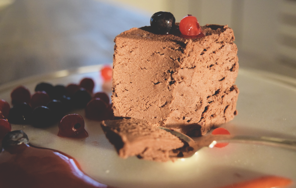 Proteinrik sjokoladekake