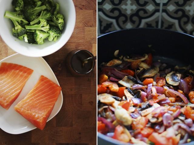 stekt laks med lun salat er perfekt middagsmat