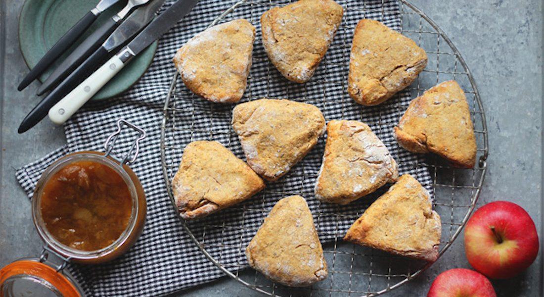 Glutenfrie søtpotetscones med krydder og pekannøtter
