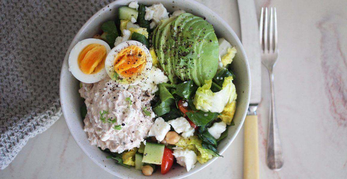 salat tunfisk og egg