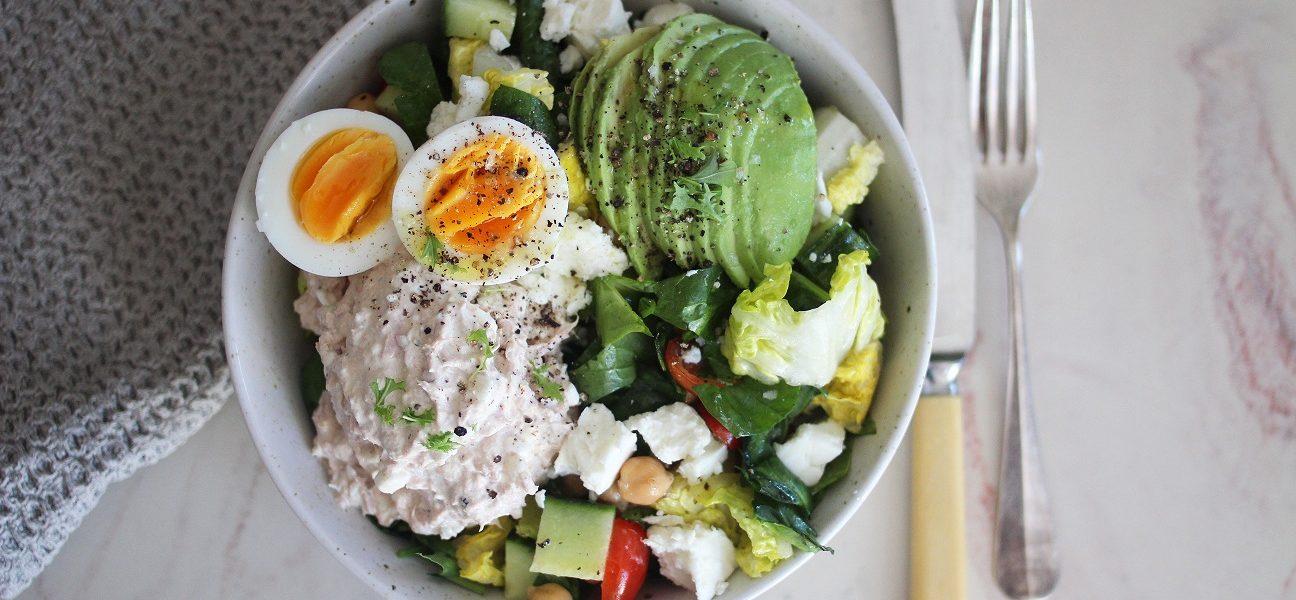 Salat med egg & tunfiskrøre
