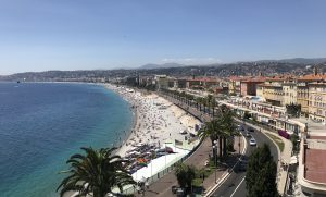 den franske riviera strand Nice
