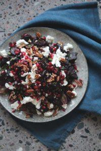 Rødbetsalat med valnøtter