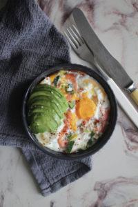 ovnsbakt eggeform med røkelaks
