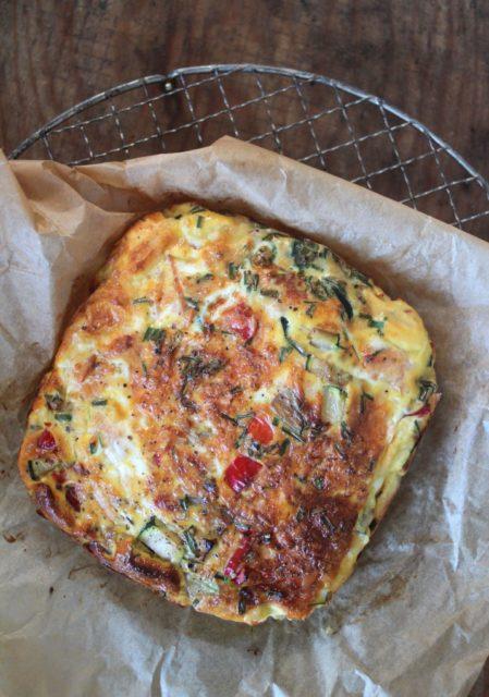 omelett med røkelaks