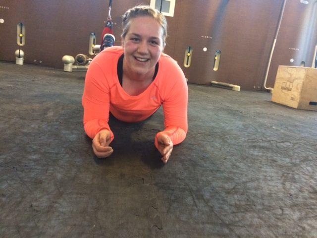 Emilie på trening ønsker hun hadde diabetes skrevet i panna