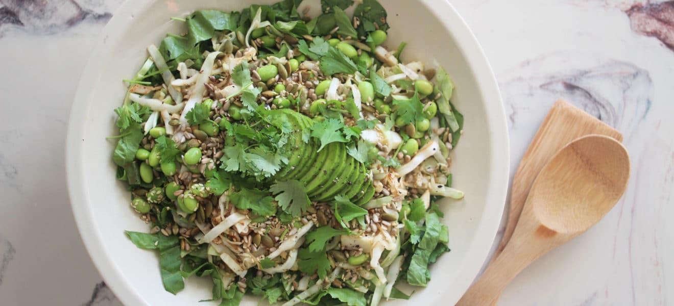 Asiatisk kålsalat med soyabønner