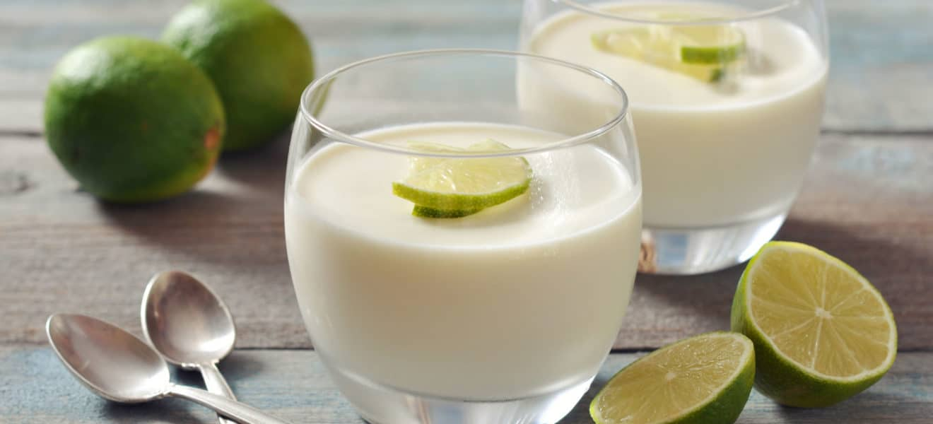 Panna cotta med lime
