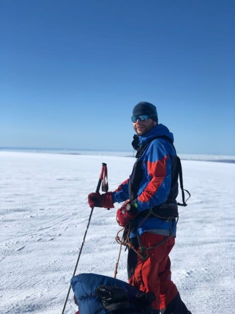 christopher på ski over grønland
