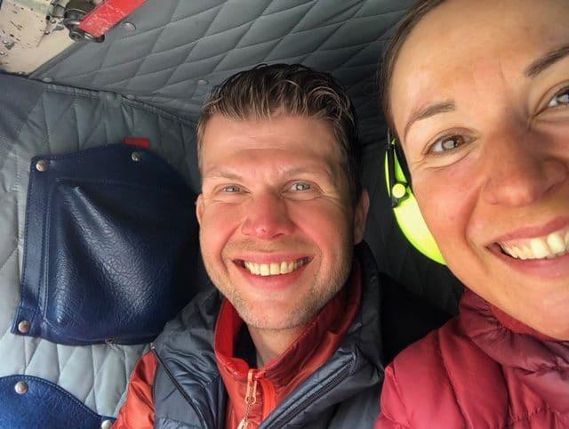 søsken på tur over grønland