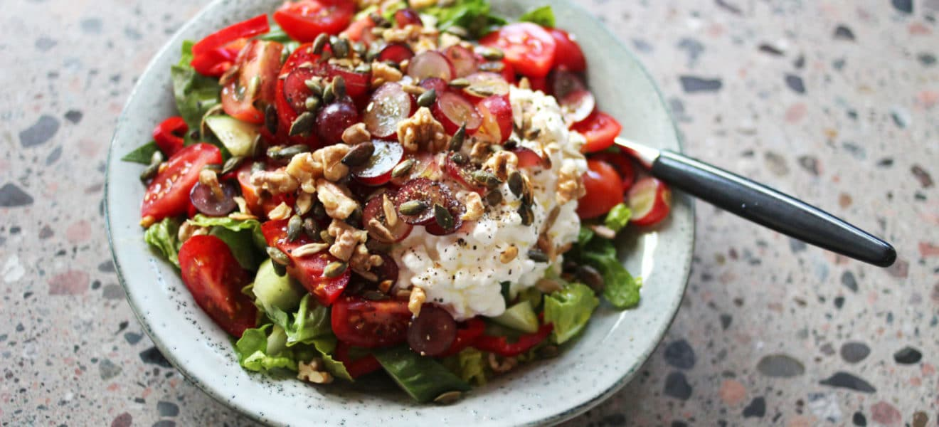 Lunsjsalat med cottage cheese