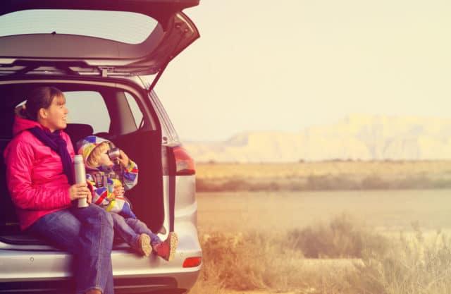 mor og barn på biltur alene er ikke noe Linda gjør. Som mamma med diabetes må hun sette grenser
