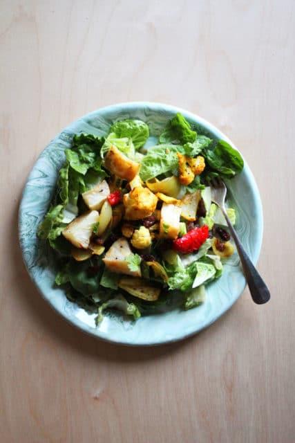 karribakt blomkålsalat