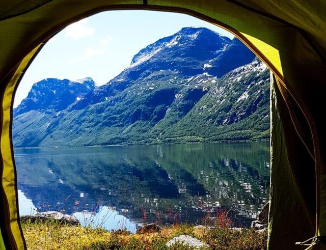 Maria på ferie i Nord-Norge