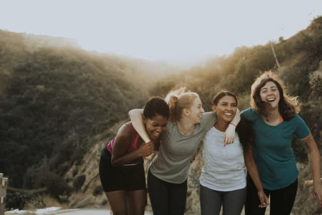 7 ting som gjør meg glad, venner i godt humør ut på tur
