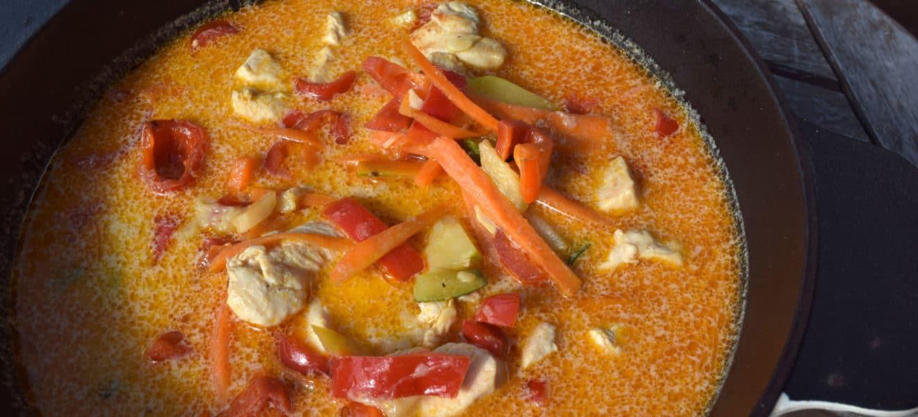 Oppskrift på Thai-inspirert kyllingsuppe