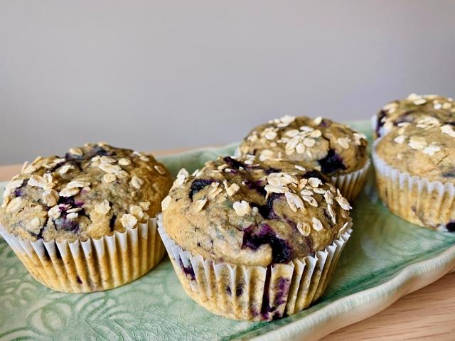 Blåbærmuffins uten tilsatt sukker